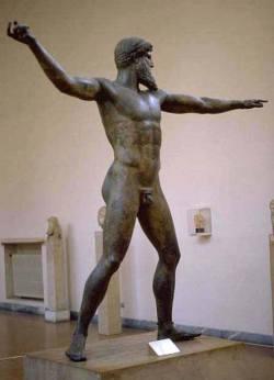 Бородатый бог, возможно, Зевс или Посейдон. Около 470 до н.э.